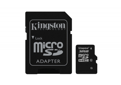Kingston Digital 32 GB microSDHC Class 10 UHS-1 Memory Card 30MB/s with Adapter