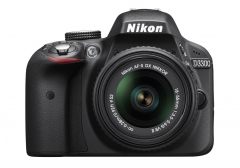 Nikon Black D3300 Digital SLR Camera 24.2 Megapixels 18-55mm VR II Lens